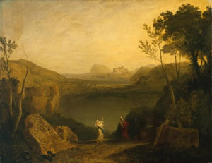 Aneas and the Sibyl, Lake Avernus by William Turner, 1798