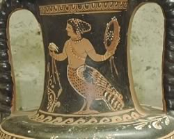 Ancient Siren Vase