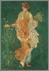Roman fresco of Flora