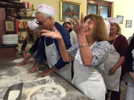 Making Pizza at Fondo Galetea