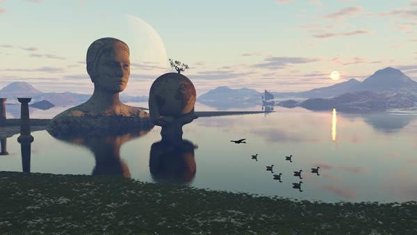 Gaia statue